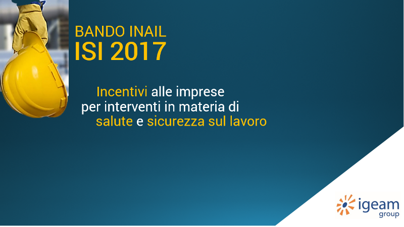 Bando ISI Inail 2017 Igeam consulenza